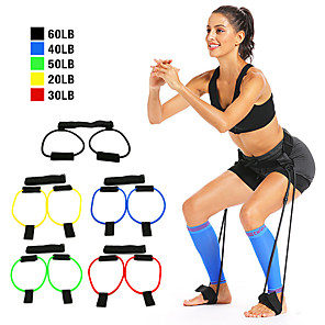 cheap Fitness Gear & Accessories-Bounce Trainer Training Device Booty Resistance Belt Bands Jump Trainer Leg Strength and Agility Training Strap Adjustable Waist Belt Sports Resistance Training Home Workout Muscle Building Fat