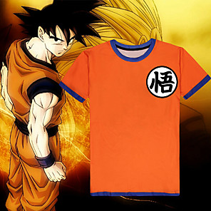 cheap Anime Costumes-Inspired by Dragon Ball Son Goku Anime Cosplay Costumes Japanese Cosplay T-shirt Top For Men's Women's
