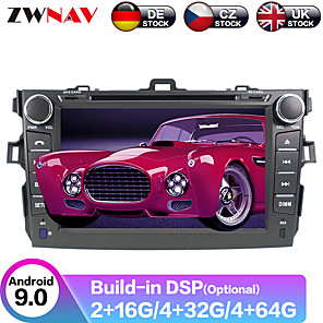 cheap Car DVD Players-ZWNAV 8inch 2din PX5/6 Android 9.0 4GB 64GB Car DVD Player Car GPS Navigation Car multimedia player Car MP5 Player radio tape recorder For Toyota Corolla 2007-2013