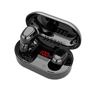 cheap TWS True Wireless Headphones-LITBest L22 TWS True Wireless Earbuds Wireless Bluetooth 5.0 Stereo Dual Drivers HIFI with Charging Box IPX5 for Premium Audio