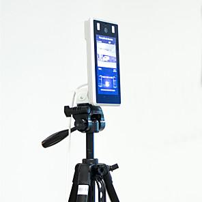 رخيصةأون -7 بوصة مضاءة ديناميكية درجة حرارة الوجه وقت الحضور قفل الباب التحكم في الوصول التحكم في الاتصال بالأشعة تحت الحمراء الماسح الضوئي لدرجة الحرارة oft-h-fvt3