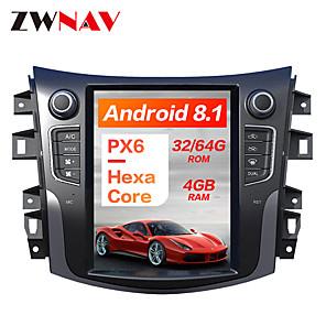 cheap Women's Sandals-ZWNAV 10.4inch 1din 4GB 64GB Tesla style Android 8.1 Car GPS Navigation Car multimedia Player CAR DVD player For NISSAN NP300 Navara 2014