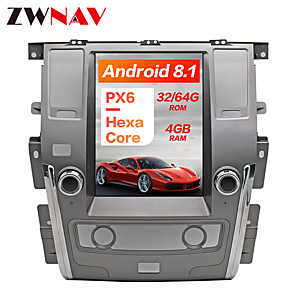 cheap Car DVD Players-ZWNAV 12.1inch 1DIN Android 8.1 4GB 64GB Tesla style PX6 Car GPS Navigation Car multimedia player Car MP5 Player For NISSAN PATROL 2010