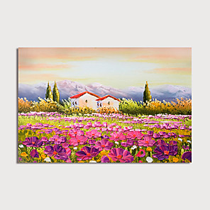 cheap Abstract Paintings-Hand Painted Canvas Oilpainting Abstract Landscape Home Decoration with Frame Painting Ready to Hang