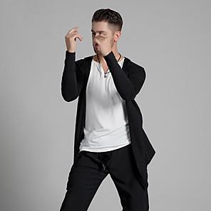 cheap Latin Dancewear-Latin Dance Top Ruching Men's Performance Long Sleeve Modal