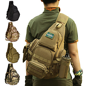 cheap Backpacks & Bags-30 L Hiking Sling Backpack Military Tactical Backpack Rain Waterproof Quick Dry Wear Resistance High Capacity Outdoor Hunting Hiking Cycling / Bike Nylon Army Green Camouflage Brown