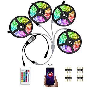 cheap Bathroom Gadgets-KWB 20M (4 x 5M) Bluetooth LED Strip Lights RGB Tiktok Lights 5050 600 LEDs Smart-Phone Controlled for Home