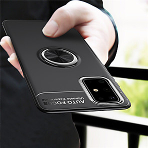 cheap Samsung Case-Case For Samsung Galaxy S20 Plus / S20 Ultra / S20 Shockproof / Ring Holder Back Cover Solid Colored TPU / Metal