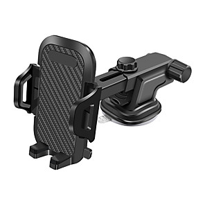 cheap Phone Mounts & Holders-360 Degree Universal Car Mobile Phone Mount Holder Auto-lock Adjustable Telephone Bracket Auto Gravity Air SmarPhone