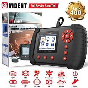 cheap OBD-VIDENT iLink400 Full System Scan Tool Single Make Support ABS/SRS/EPB/DPF Regeneration/Oil Reset OBD2 Automotive Scanner Code Reader Professional Car Diagnostic Tool OBD2 Scanner