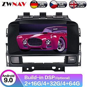cheap Car DVD Players-ZWNAV 7inch 2din Android 9.0 4GB 64GB PX6 PX5 DSP Car DVD Player Car Multimedia Player stereo Car GPS navigation radio tape recorder for Opel Vauxhall Holden Astra J 2010