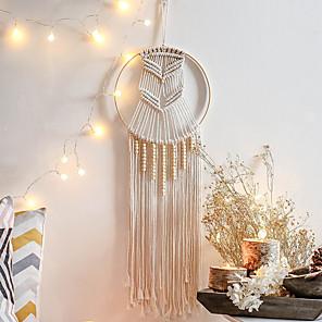cheap Dreamcatcher-Macrame Wall Gift Hanging Bohemian Handmade Woven Art Decor Home Living Room Dorm Decoration INS Nordic Style Bohemian Woven Dreamcatcher Pendant