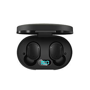 cheap TWS True Wireless Headphones-A6L TWS True Wireless Earbuds LED Power Display Charging Case Bluetooth 5.0 Stereo Dual Drivers Auto Pairing Smart Touch Control Earphones