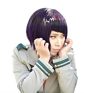 cheap Costume Wigs-My Hero Academia Boko No Hero Kyoka Jiro Cosplay Wigs Women's Bob Straight bangs 15 inch Heat Resistant Fiber kinky Straight Purple Adults' Anime Wig