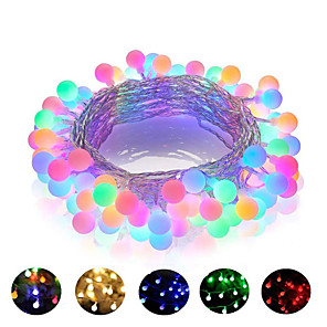 cheap LED String Lights-1pcs 10m 100LED 220V LED Ball String Lights Christmas Bulb Fairy Garlands Outdoor For Holiday Wedding Home New Year's Decor Lamp