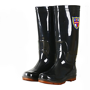 cheap Shoes Covers & Rainshoes-Men's PVC Spring & Summer Boots Waterproof Knee High Boots Black