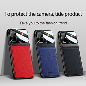 cheap Samsung Case-Case for Samsung scene map Samsung Galaxy S20 S20 Plus S20 Ultra A51 A71 New simulation leather skin eye protection series PC tempered glass veneer three-in-one all-inclusive mobile phone case
