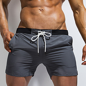cheap Wetsuits, Diving Suits & Rash Guard Shirts-Men's Sporty Basic Slim Chinos Shorts Pants Solid Colored Blue & White Black & Gray Classic Sporty Patchwork Black Blue Gray US32 / UK32 / EU40 US34 / UK34 / EU42 US36 / UK36 / EU44 / Elasticity