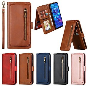 cheap Huawei Case-Case For Huawei  P30 Pro / P30 lite / P20 Pro  Wallet / Card Holder / Shockproof Full Body Cases Solid Colored PU Leather Case For Huawei  P20 Lite / P Smart Z /  P Smart Plus (2019) / P Smart (2019)