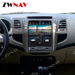 cheap Car DVD Players-zwnav 10.4 Inch 1din Android 8.1 4GB 64GB Tesla style Car GPS Navigation Car auto multimedia player Car MP5 Player tape recorder For Toyota Fortuner 2007-2015