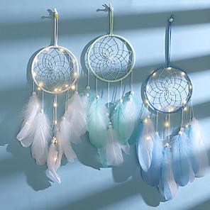 cheap Latin Dancewear-Dream Catcher Handmade Dreamcatcher Feather Wall Handmade Braided Wind Chimes Art For Wall Hanging Car Home Decoration Gifts
