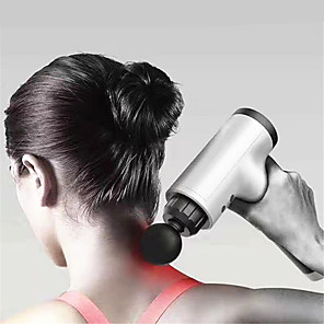 cheap Body Massager-Muscle Massage Gun Sport Therapy Massager Body Relaxation Pain Relief Slimming Shaping Massager - Silver