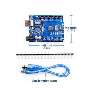 cheap Robots & Accessories-UNO R3 Atmega328P CH340G Development Board with USB Cable Pin Header