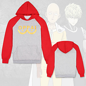 cheap Cell Phones-Inspired by ONE PUNCH-MAN Cosplay Costume Hoodie Pure Cotton Color Block Hoodie For Men's / Women's