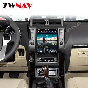 cheap Car DVR-ZWNAV 13.6 inch 1din Android 8.1 4G 64GB Tesla style Car GPS Navigation Car multimedia Player Car MP5 Player radio tape recorder For TOYOTA LAND CRUISER prado 150 2010-2013