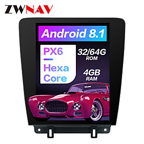 cheap Face Masks-ZWNAV 12.1 inch 1din Tesla Style Android 8.1 Car Stereo 4GB 64GB Car GPS Navigation Car Multimedia Player Carplay Steering Wheel Control Bluetooth Voice Control WiFi for Ford Mustang 2010-2014
