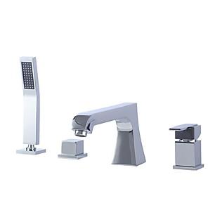 cheap Bathtub Faucets-Bathtub Faucet Electroplated Roman Tub Ceramic Valve Bath Shower Mixer Taps