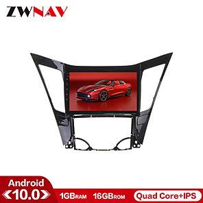 cheap Car DVD Players-ZWNAV 10.1 inch 1GB 16GB 1din Android 10.0 Car GPS Navigation Car Stereo Player Car Multimedia Player DSP CarPlay WIFI For Hyundai Sonata 2011-2013