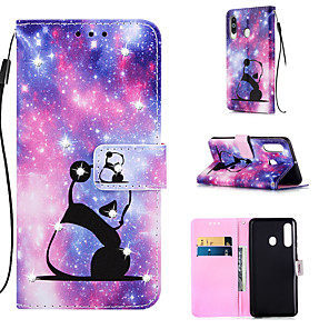 cheap Samsung Case-Case For Samsung Galaxy S9 / S9 Plus / S8 Plus Wallet / Card Holder / Rhinestone Full Body Cases Panda PU Leather for Galaxy S20 PLUS S20 ULTRA S20 A51 A71 A50 A40 A30 A20 A10S NOTE10 J4 PLUS