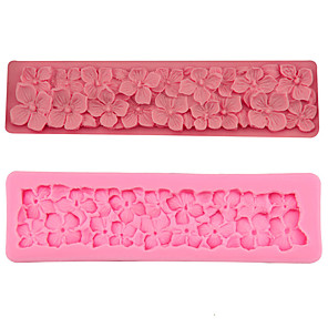 cheap Ice Cube Tray-DIY Baking Flower Mold Liquid Silicone Clay Fondant Cake Decoration 1pcs