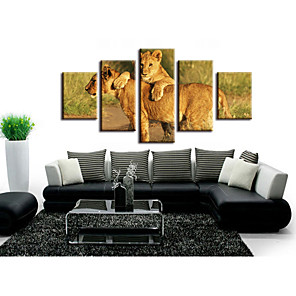 cheap Prints-5 Pieces Printing Decorative Painting  Oil Painting  Home Decorative Wall Art Picture Paint on Canvas Prints Landscape Animals