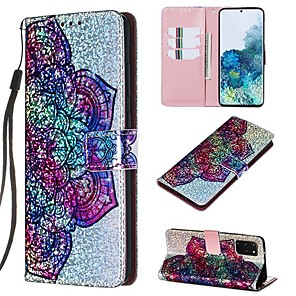 cheap Samsung Case-Case For Samsung Galaxy A50/Galaxy Note 10 / Galaxy Note 10 Plus Wallet / Card Holder / with Stand Full Body Cases Flower PU Leather For Galaxy S20/S20 Plus/S20 Ultra/A50S/A30S/A71
