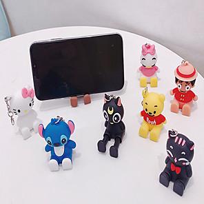 cheap Phone Mounts & Holders-Cute Cartoon Mobile Phone Universal Bracket Animal Bear Doll Stand Phone Holder Phone Accessories Holder