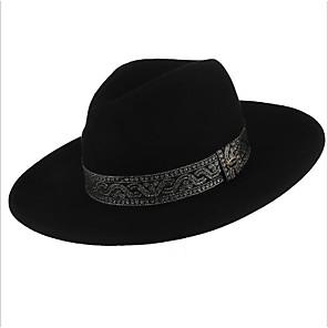 cheap Party Hats-Hat Wool Felt Hats / Headdress with Cap 1 Piece Daily Wear / Outdoor Headpiece