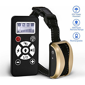 cheap Portable Speakers-Pet Dog Training Collar Remote Control Waterproof Rechargeable LCD Shock Vibration Sound Collar 181