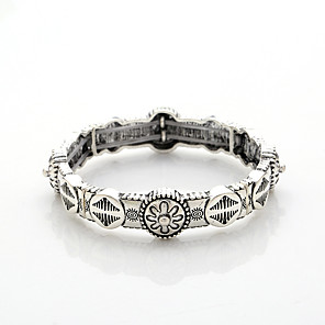 cheap Hair Jewelry-Bracelet Bangles Vintage Bracelet Bracelet Vintage Style Vintage Theme Vintage Casual / Sporty Rock Ethnic Fashion Alloy Bracelet Jewelry Silver For Sport Formal Prom Date Festival