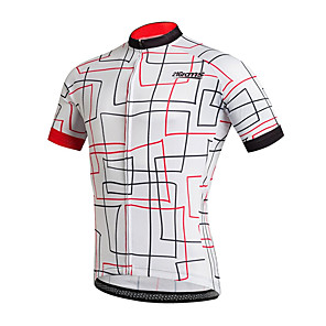 cheap Cycling Jerseys-21Grams Men's Short Sleeve Cycling Jersey Black / White Stripes Bike Jersey Top Mountain Bike MTB Road Bike Cycling UV Resistant Breathable Quick Dry Sports Clothing Apparel / Stretchy / Race Fit