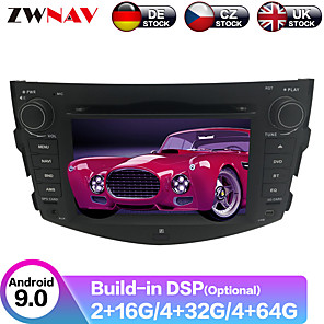 cheap Car DVD Players-ZWNAV 7inch 2din 4GB 64GB Android 9.0 PX6 Car DVD Player Car GPS Navigation radio tape recorder Stereo Car Multimedia player For Toyota RAV4 2006-2012