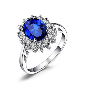 cheap Earrings-Women's Ring 1pc Blue Alloy Irregular Punk Jewelry
