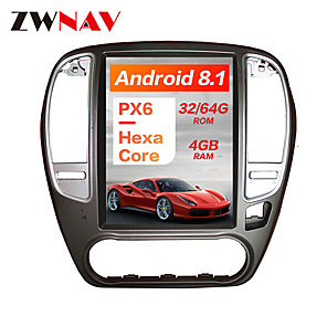 cheap Car DVD Players-ZWNAV 10.4Inch 1DIN 4GB 64GB Android 8.1 PX6 DSP Tesla Type Car DVD Player GPS Navigation Car multimedia player tape recorder For NISSAN SYLPHY 2005-2012