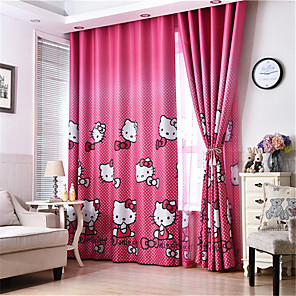 cheap Curtains Drapes-Gyrohome 1PC Red Cats Shading High Blackout Curtain Drape Window Home Balcony Dec Children Door *Customizable* Living Room Bedroom Dining Room