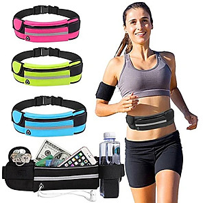 cheap Running Bags-Running Belt Fanny Pack Waist Bag / Pack for Running Outdoor Exercise Outdoor Bike / Cycling Sports Bag Waterproof Portable Durable Waterproof Material Running Bag Adults