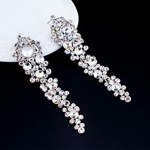 cheap Earrings-Women's Drop Earrings Dangle Earrings Pear Cut Drop Elegant Fashion Earrings Jewelry Silver For Wedding Party Anniversary Prom 1 Pair