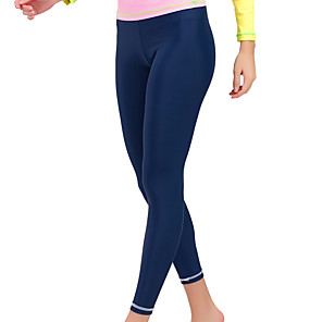 cheap Wetsuits, Diving Suits & Rash Guard Shirts-Women's Dive Skin Leggings Swimwear Breathable Quick Dry Swimming Water Sports Solid Colored Autumn / Fall Spring Summer / Winter / High Elasticity