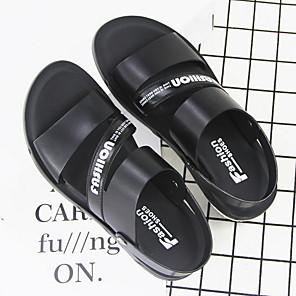cheap Men's Sandals-Men's PU Spring & Summer Casual Sandals Walking Shoes Black / Brown