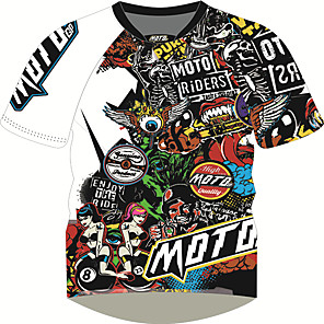 cheap OBD-MOTO GP Motorcycle Clothes Motorcycle Jersey t-shirt top quick-drying short-sleeved T-shirt breathable Polyester locomotive Motocross equipment moisture wicking adult